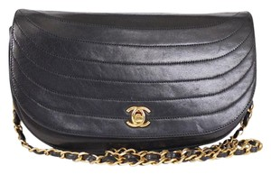 Chanel Handbag Half Moon Flap Crescent Shoulder Bag