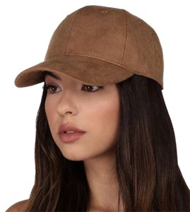 Windsor Brown Tan Faux Suede Baseball Cap Dad Hat