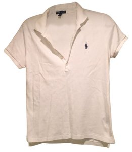 Ralph Lauren T Shirt white with navy