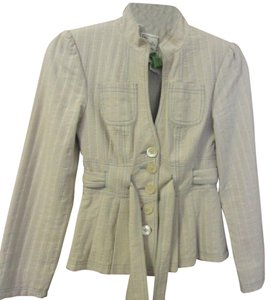 Nanette Lepore Tan with blue pinstripes Jacket