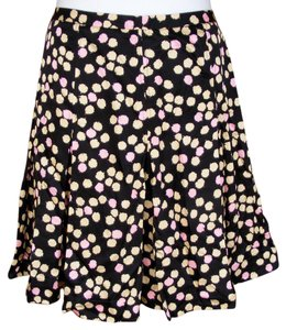 J.Crew Silk Polka Dots Lined Skirt Multicolor
