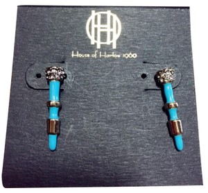 House of Harlow 1960 Turquoise Bar Earrings