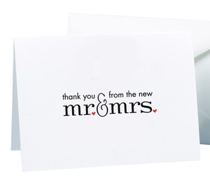 Wedding Guest Cards Mr and Mrs Thank You Cards 50 Count Wedding Favor