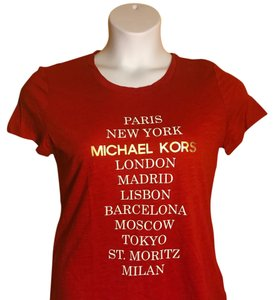 Michael Kors Small T Shirt red