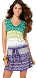 BCBGMAXAZRIA short dress Sleeveless Silk Chevron Herringbone Knit on Tradesy