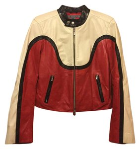 5/48 black/red/white Leather Jacket
