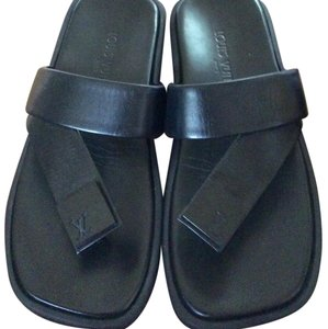 Louis Vuitton leather sandals brand new Black Sandals