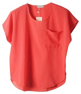 Other Chiffon T-shirt Peach Top Coral, Salmon Pink