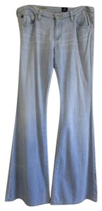 AG Adriano Goldschmied Faded Bell Bottoms Bell Flare Leg Jeans-Light Wash