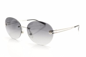 Chanel Chanel Silver/Black Gray Gradient Round Rimless Sunglasses