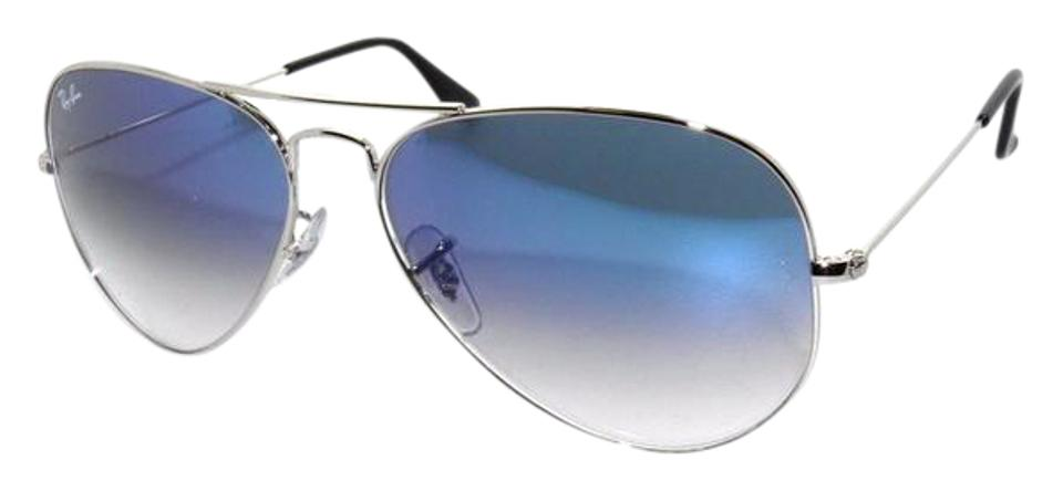 9ae78846ce6 Ray-Ban Silver Flash Blue 3025 003 3f Silver Blue Aviator Gradient ...