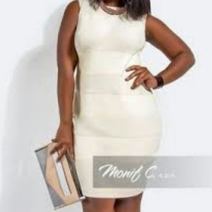monif c short dress Ivory on Tradesy