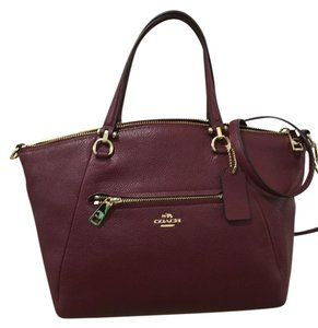 Coach Prairie Leather 34340 Satchel in Burgundy