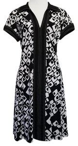 Connected Apparel short dress Black White on Tradesy