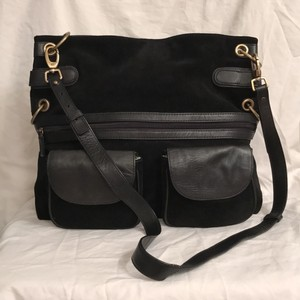 Franklin Covey Suede Leather Messenger Cross Body Bag