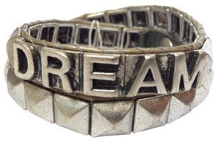 BCBGeneration antique silver studded dream wrap bracelet
