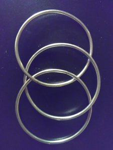 Other Three connected sterling silver bangles