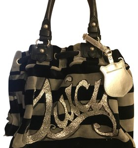 Juicy Couture Satchel in Black and gray