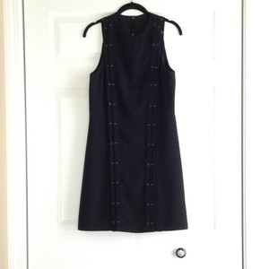 A.L.C. Black Evening Sleeveless Studded Pleated Dress