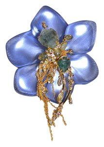 Alexis Bittar ALEXIS BITTAR Large Imperial Lace LUCITE Floral Brooch Pin