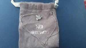 Alex Woo Dove necklace with pouch