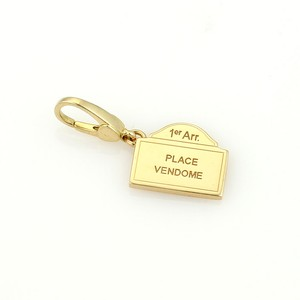 BVLGARI Bvlgari Place Vendome Envelope 18k Yellow Gold Charm