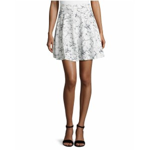 Catherine Malandrino Mini Skirt White and Black