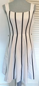 White House | Black Market short dress White with black stripes on Tradesy
