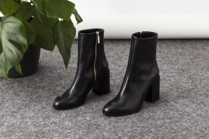 Dear Frances Midcalf Nappa Italian Black Boots