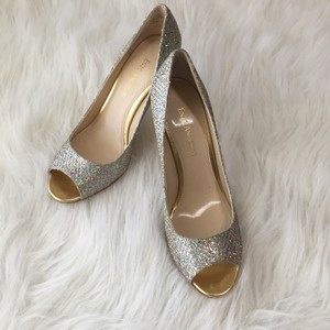 Enzo Angiolini Silver Gold Pumps