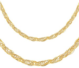 Top Gold & Diamond Jewelry 14K Yellow Gold 5mm Flexible Round Wired Necklace - 17+1