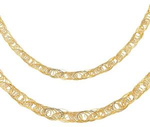 Top Gold & Diamond Jewelry 14K Yellow Gold 8mm Flexible Round Wired Necklace - 17+1