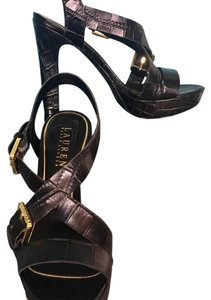 Ralph Lauren Black Platforms