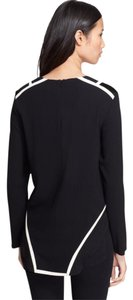 Rag & Bone Top Black with Ivory Piping Detail