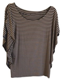 Ann Taylor LOFT Top Black and Tan