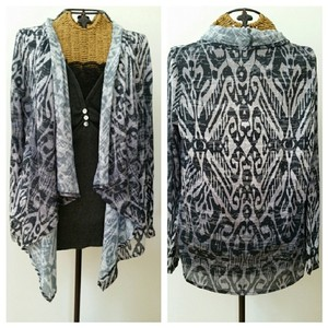 Soma Intimates Cardigan Native Aztec Drape Sweater