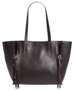 Chloé Tote in Black w/contrasting blue suede