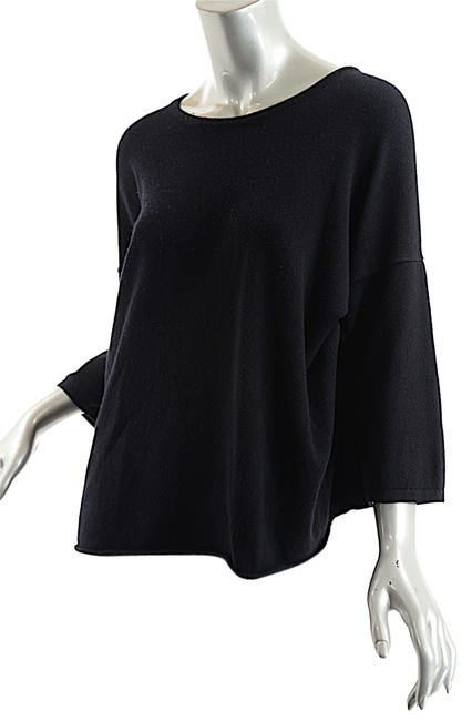 Preload https://img-static.tradesy.com/item/2099810/black-cashmere-jewel-neck-34-sleeve-sweaterpullover-size-os-one-size-0-0-650-650.jpg