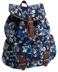 Aéropostale Faux Leather Buckle Sturdy Floral Backpack