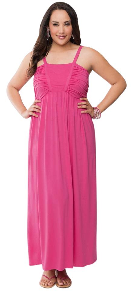 2ccb158fc17 Pink Maxi Dress by Lane Bryant Plus Size Hot Summer Rayon Stretchy Image 0  ...