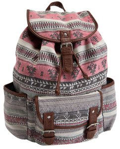 Aéropostale Faux Leather Buckle Sturdy Southwest Backpack