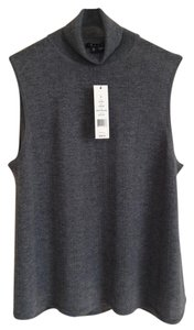 Theory Turtleneck Vest Wool Lightweight Sweater