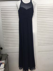 Ralph Lauren Navy Blue Gown Traditional Bridesmaid/Mob Dress Size 4 (S)
