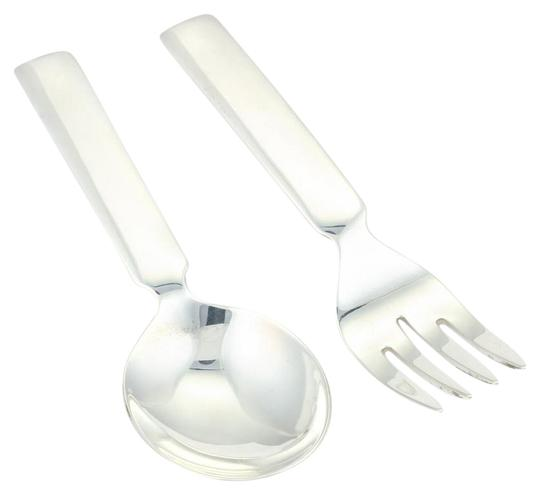 Cartier vintage baby spoon fork set in 925 sterling for Sterling silver baby spoon and fork