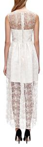 Jill Stuart Ivory Jill Stuart Sleeveless Lace Gown With Illusion Hem Dress