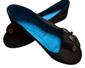 Boutique Linen Black Flats