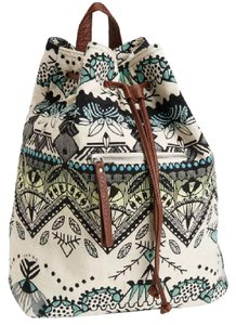 Aéropostale Faux Leather Buckle Sturdy Tribal Backpack