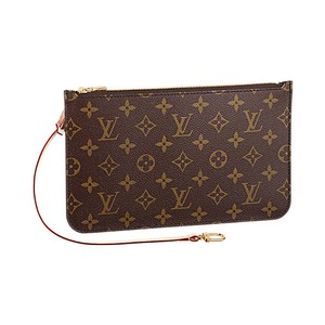 Louis Vuitton Wristlet in Monogram/Red
