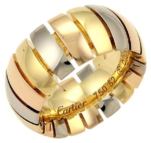 Cartier Cartier Tubogas 18k Tri-Color Gold 10mm Dome Band Ring