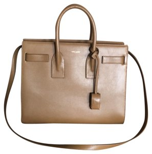 Saint Laurent Satchel in Camel